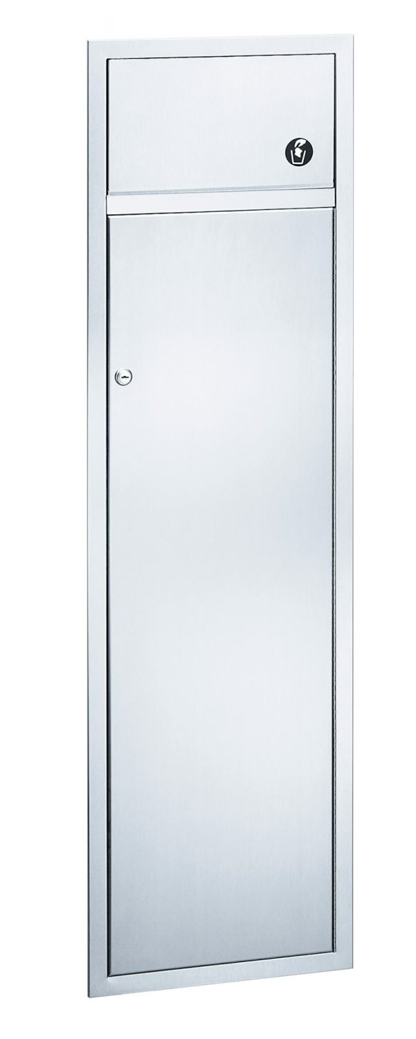Surface Mounted Waste Receptacle 315-15 | Accurate Door & Hardware, Inc.