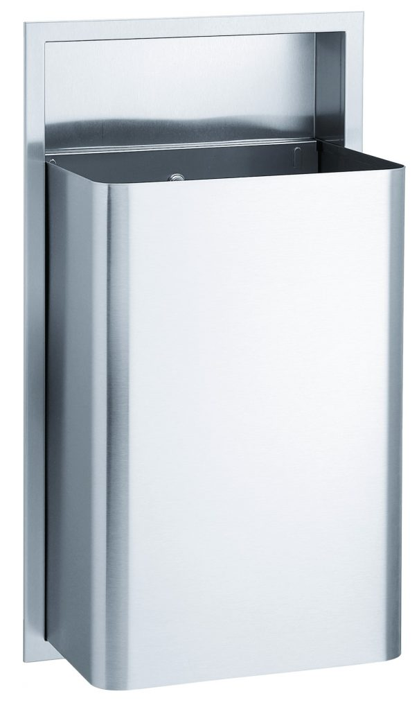 Stainless Steel Commercial Trash Receptacle 334 | Accurate Door & Hardware