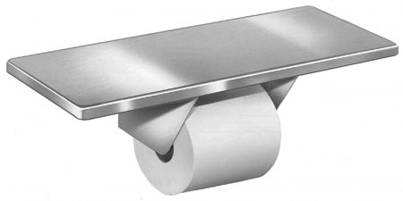 Single Roll Toilet Tissue Dispenser With Shelf 5262   Accurate Door & Hardware