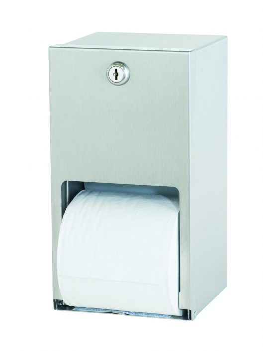 Stainless steel double roll toilet paper dispenser 5402