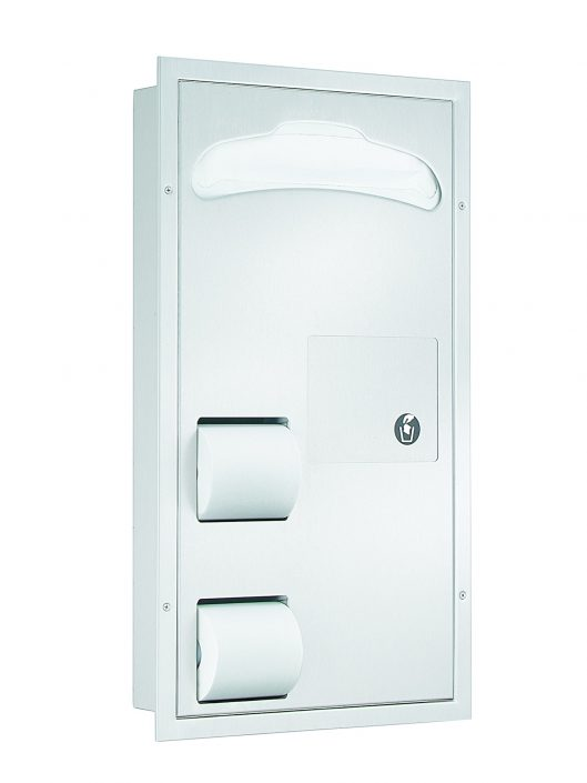 Bradley seat cover/tissue dispenser/waste receptacle 5911-000000 - Accurate Door & Hardware, Inc