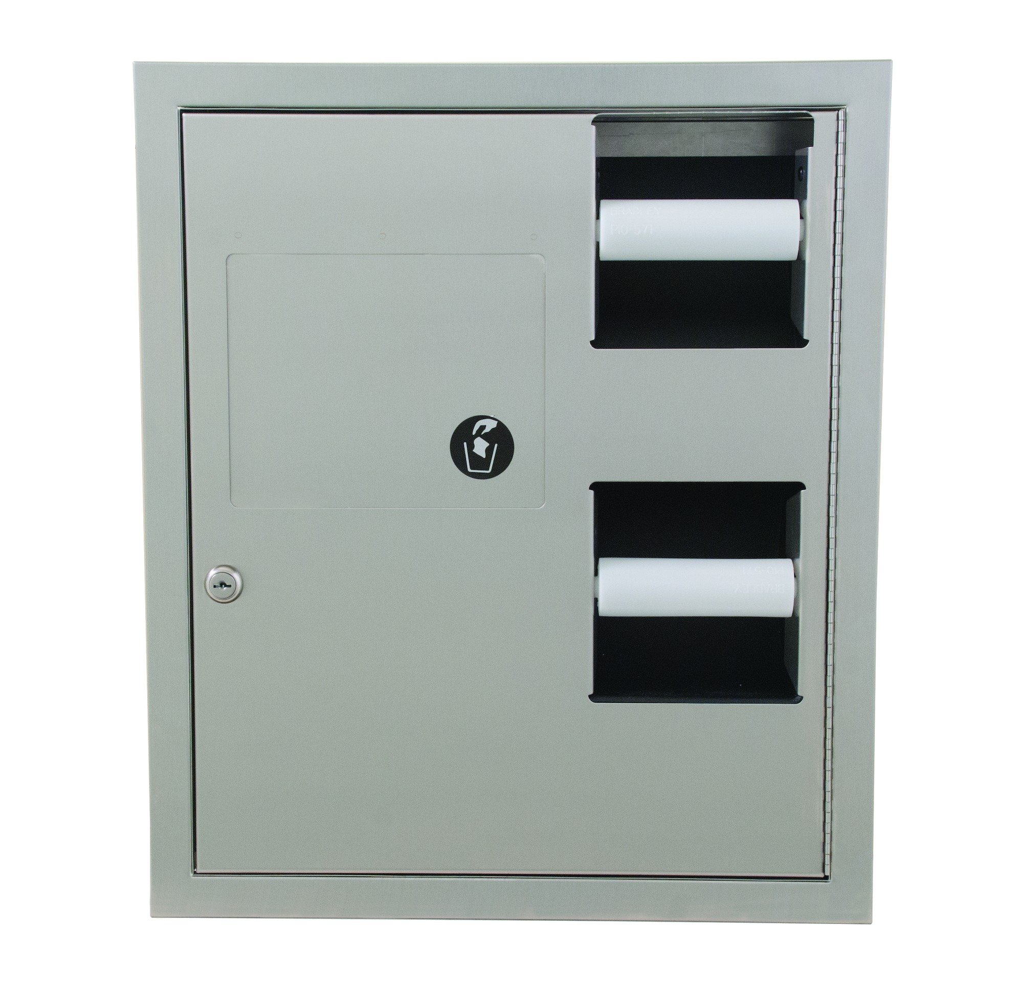 Surface mounted paper towel dispenser and waste receptacle 5942-110000 | Accurate Door & Hardware, Inc