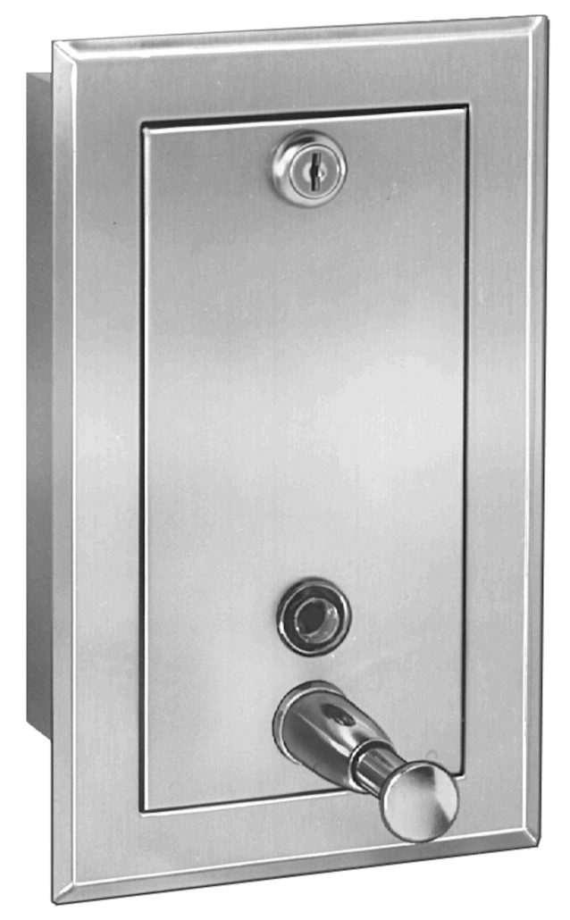 Stainless Steel Soap Dispenser Wall Mounted 646 | Accurate Door & Hardware