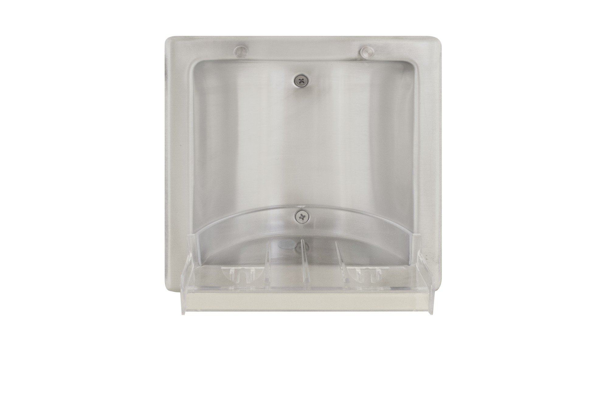 Recessed Soap Dish With Removable Plastic Tray 9353